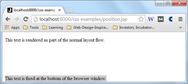 A div element with position : fixed in a taller browser window