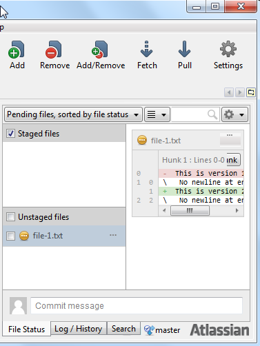 SourceTree detecting changed files.
