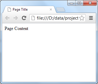An HTML document as it looks in the browser.
