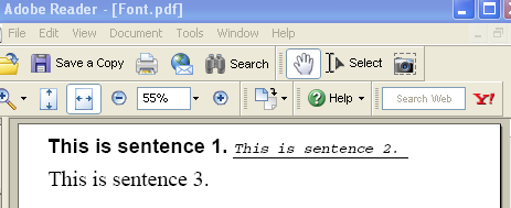 An IText Font example