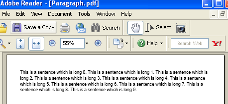 An IText Paragraph example