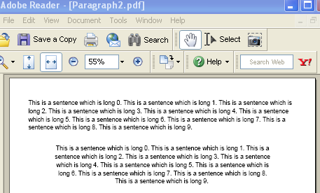 A larger IText Paragraph example