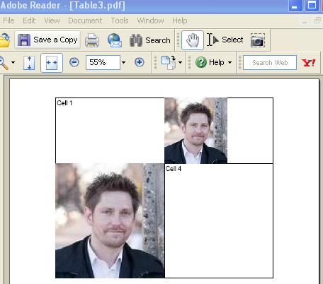 An IText Table with Image