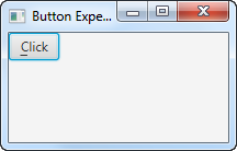 A JavaFX Button with its mnemonic visible.