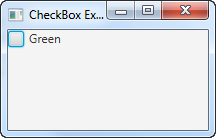 A JavaFX CheckBox displayed in the scene graph