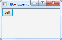 A JavaFX ToggleButton which is not pressed.