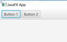 JavaFX GUI showing a JavaFX ToolBar with two Buttons added.