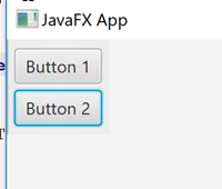 JavaFX GUI showing a JavaFX ToolBar with vertical orientation and two Buttons added.