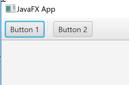 A JavaFX ToolBar with a visual separator between its items.