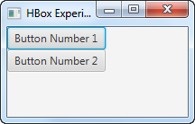 A JavaFX VBox component displayed in the scene graph.