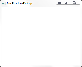 A JavaFX application window.